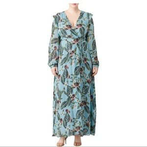 Nicholas Mayflower Wrap Maxi floral print DRESS